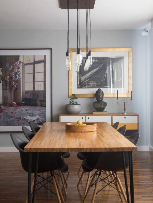 mid century modern dining room table and chairs