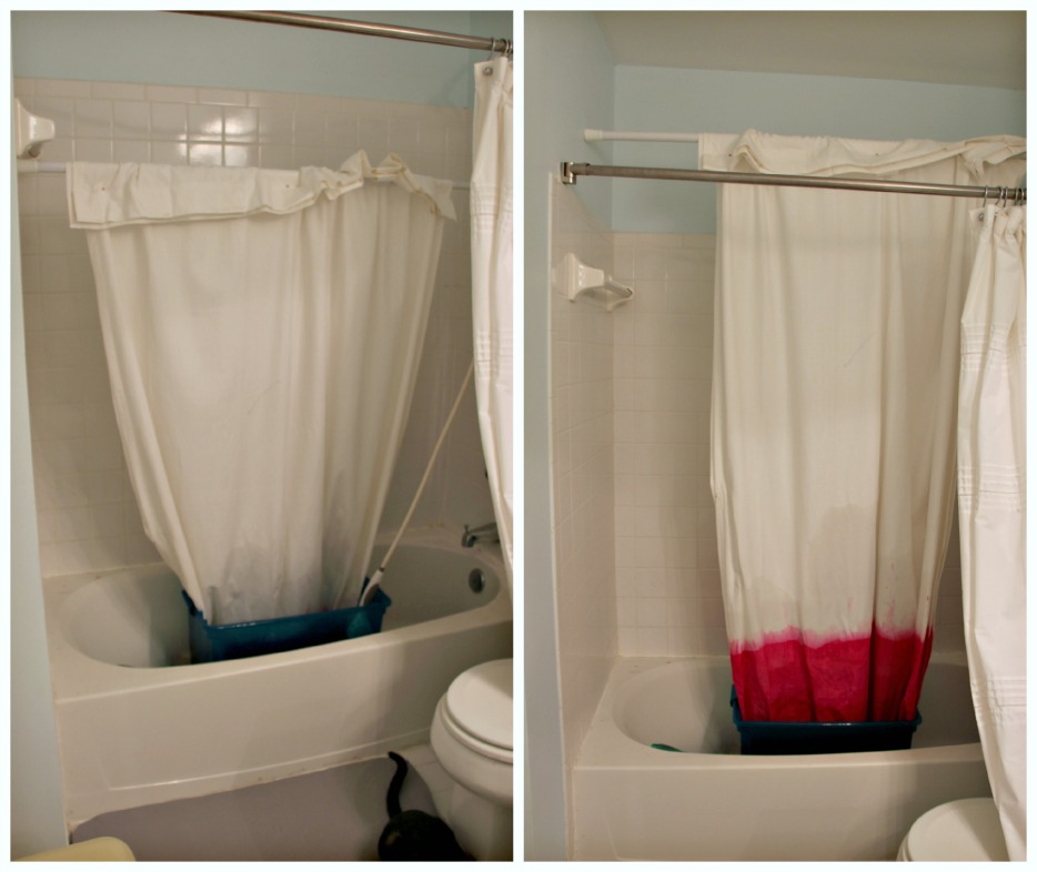Diy Dip Dyed Ombre Window Panel Curtains By Little Pink Monster