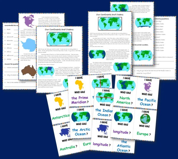 Continents and oceans resource bundle thumbnail 3