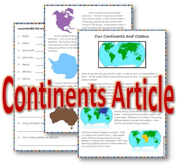 Cover photo for article about the continents