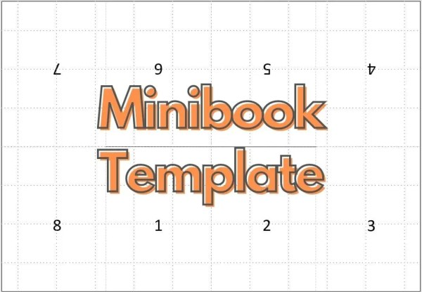 Minibook template product cover photo