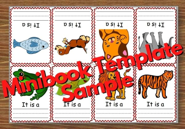 Finished minibook template example