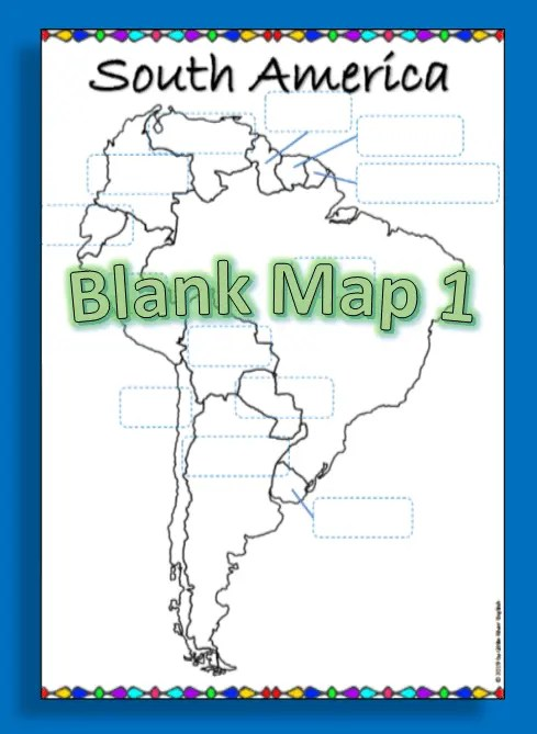 Example of the South America map product