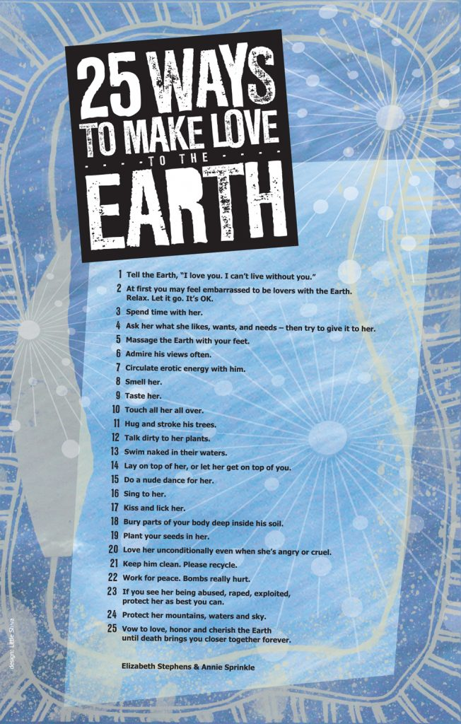 25 Ways to Make Love to the Earth – Beth Stephens and Annie Sprinkle