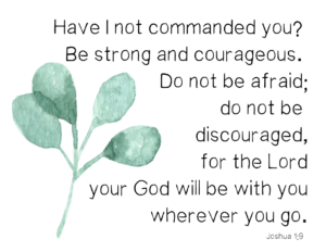 Joshua 1:9 courage verse