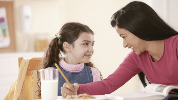 Show your child love through her love language of acts of service.