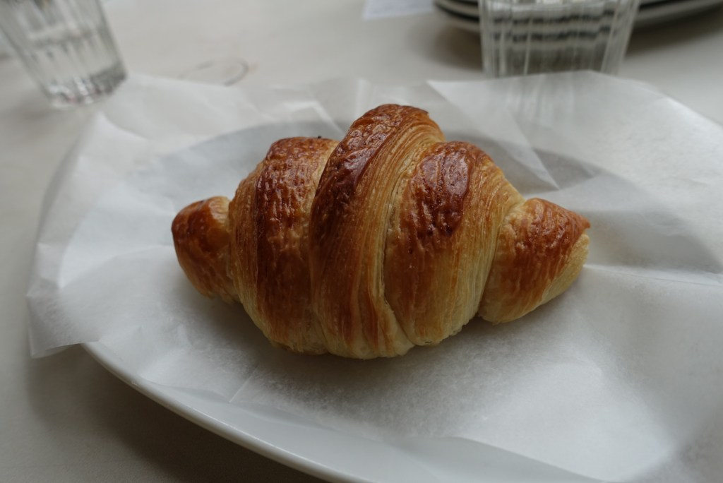 Starting off with a little fluffy croissant from Breadworks.