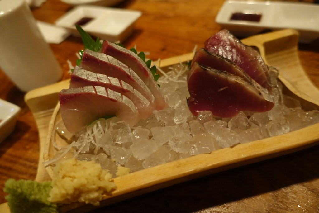 Now, how can you not have sashimi when you're in Japan??
