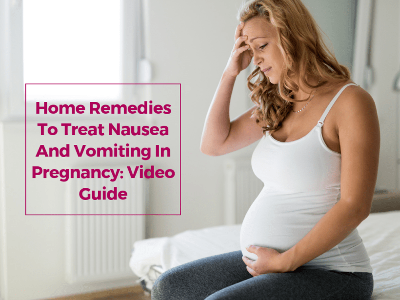 home remedies to treat nausea and vomiting in pregnancy