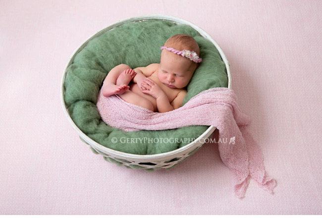 Pretty pink newborn photography