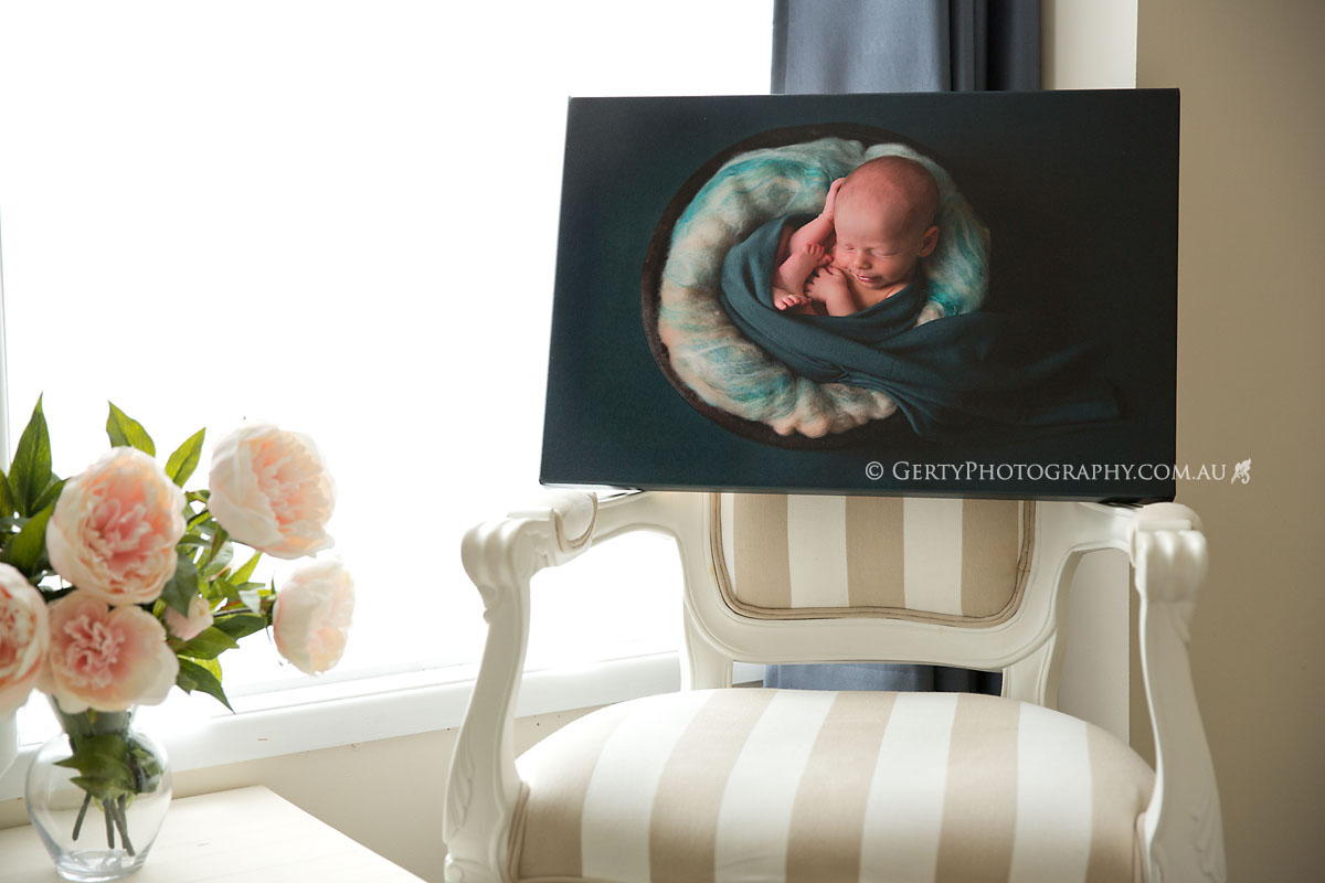 newborn photos on canvas