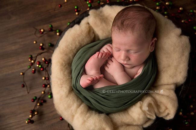 christmas baby boy brisbane newborn photographer
