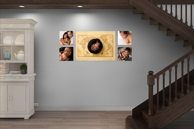 newborn artwork gallery display
