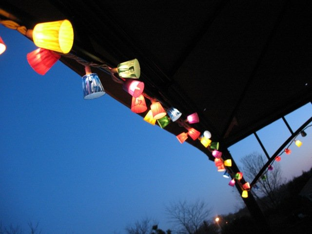 DIY Colored Patio Lights