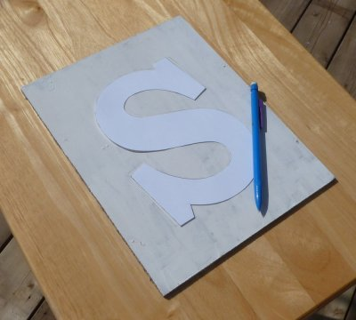 Tracing the Monogram onto the Background