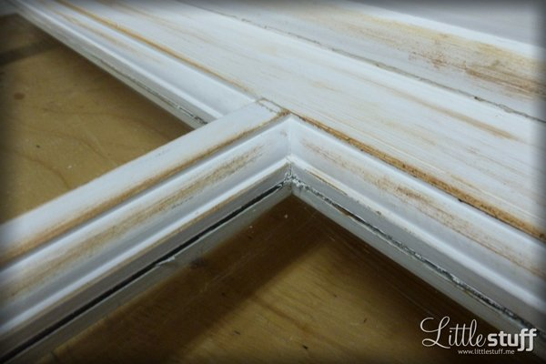 Window Frame to Headboard Makeover: www.littlestuff.me
