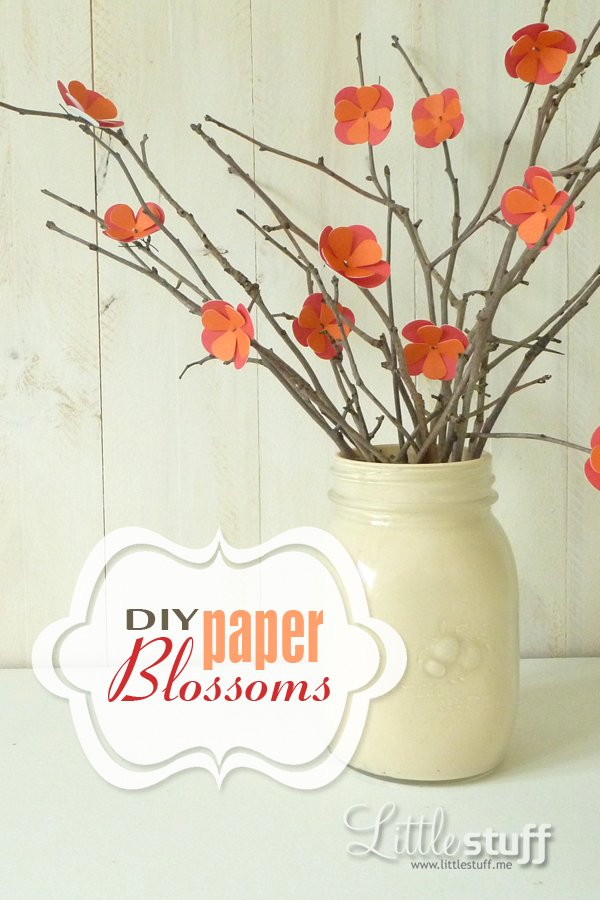DIY Paper Blossoms -- Great for wedding centrepieces, bridal shower decor, or home decor