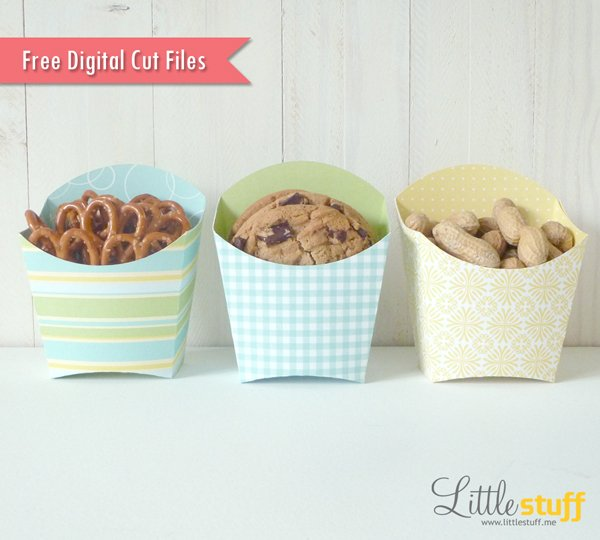 LittleStuff.me: French Fry Container Digital Cut File