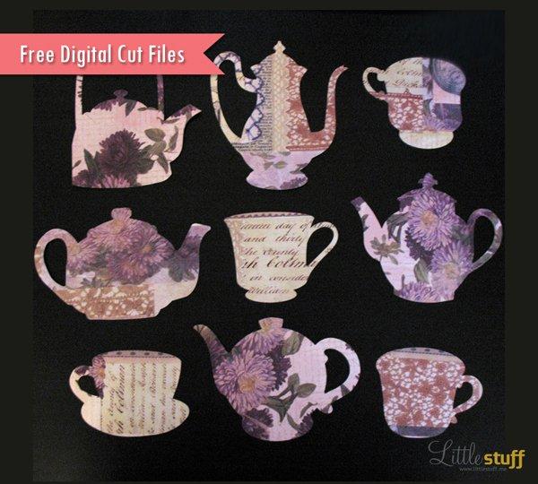 Free Tea Digital Cut Files, SVG and Silhouette Studio