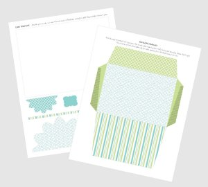 Free Printable Layered Greeting Card, Thank You Card, or Get Well Card Template