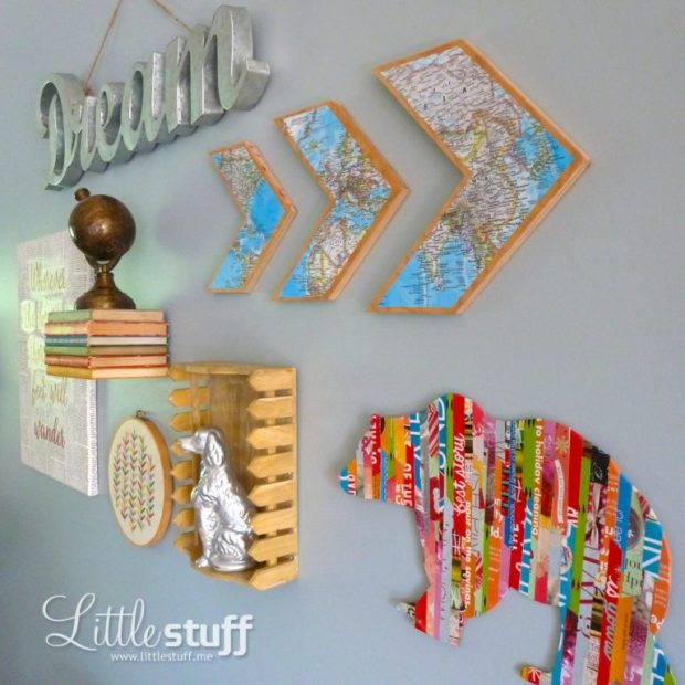 Magazine strip silhouette wall art: www.LittleStuff.me