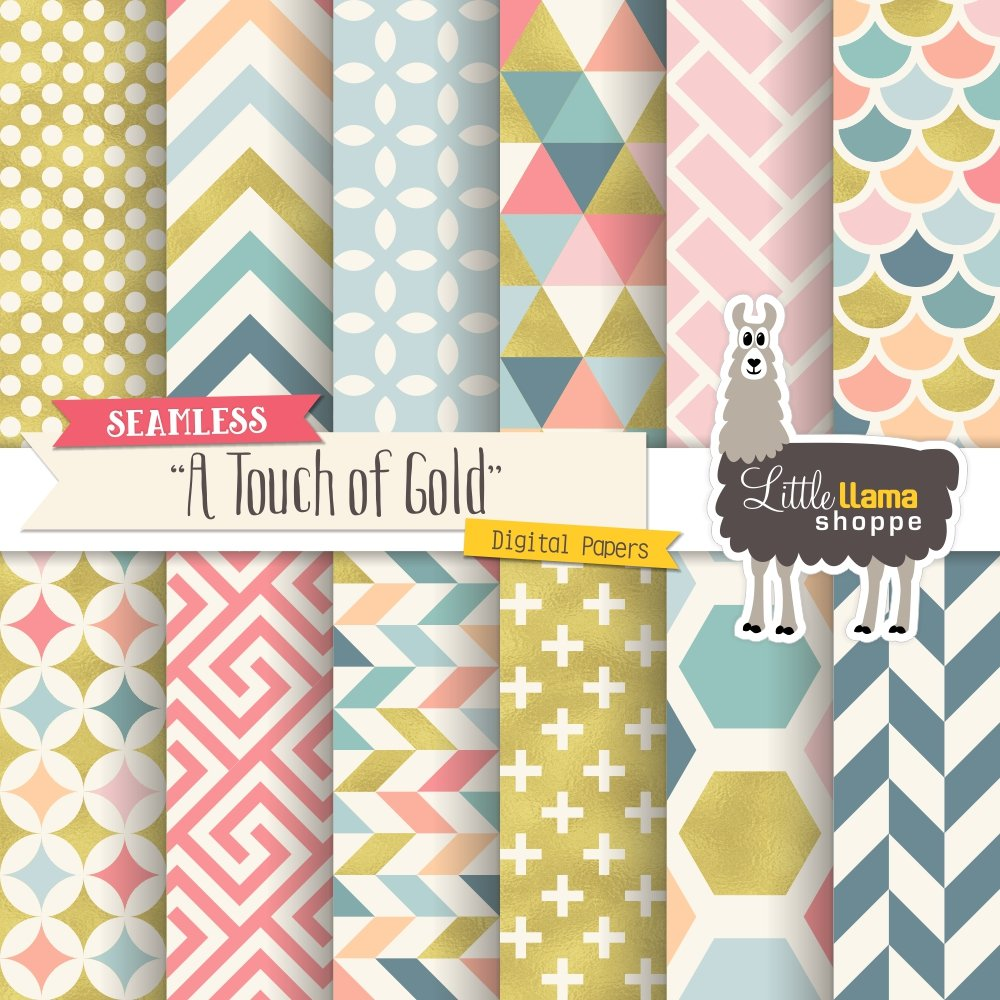 Touch of Gold Digital Paper