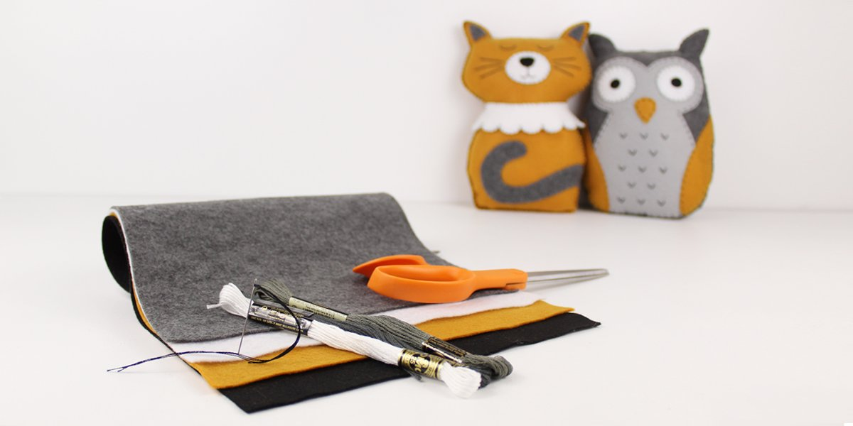 owl pussycat and materials to make them