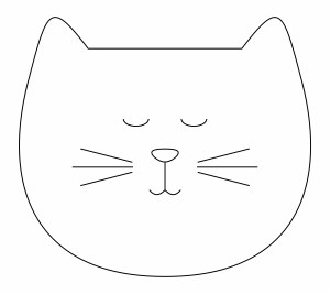 sleepy cat head template