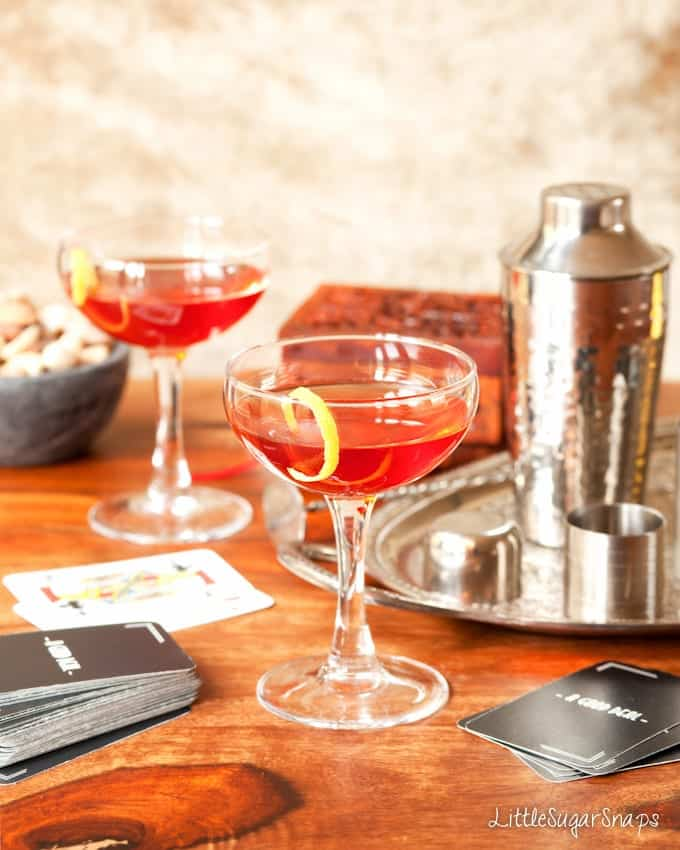 The Italian American: a Bourbon Campari Amaro Cocktail