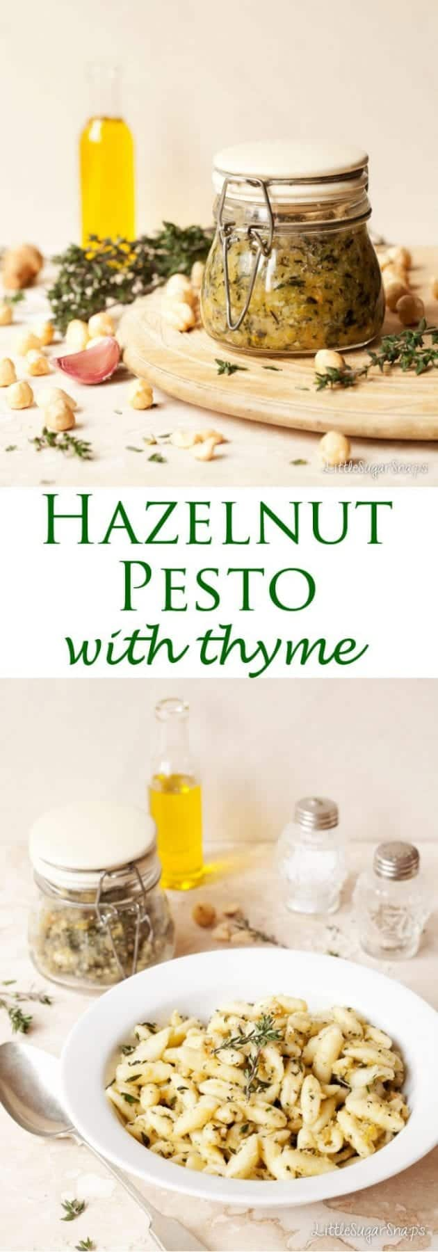 Hazelnut Pesto with Thyme is a buttery, zesty twist on the classic.Made in Minutes.