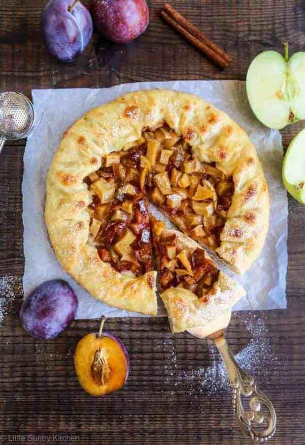 Plum apple galette-3