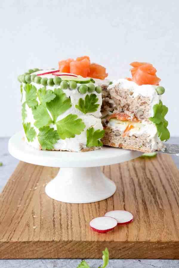 Swedish Smörgåstårta Sandwich Cake