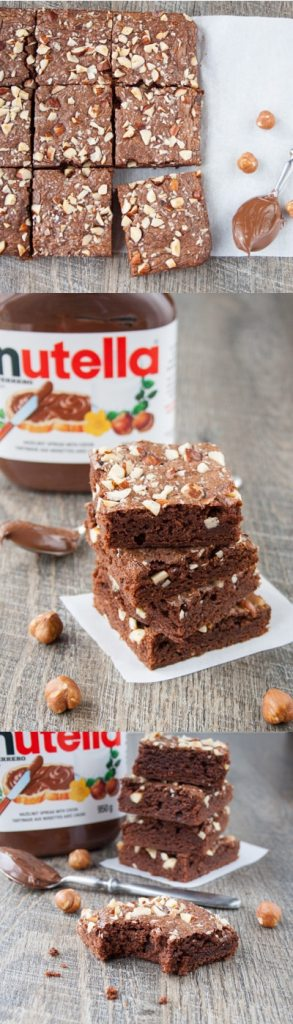 5-MINUTE CHOCOLATE HAZELNUT BROWNIES. Nutty, chocolatey and chewy brownies that are made with just 3 ingredients and in one bowl. Perfect for when that chocolate craving hits!