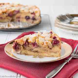 Almond Berry Croissant Cake {video recipe}