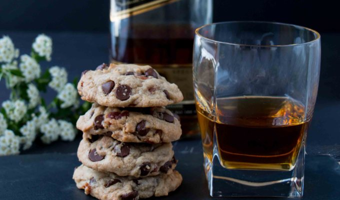 Bourbon Bacon Chocolate Chip Cookies (video)
