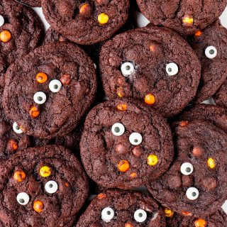 Reese's Double Chocolate Halloween Cookies