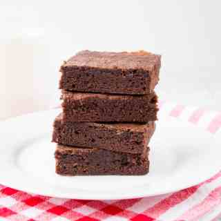 Rich, fudgy and perfectly chewy! This easy one-bowl brownie recipe comes together in just minutes.