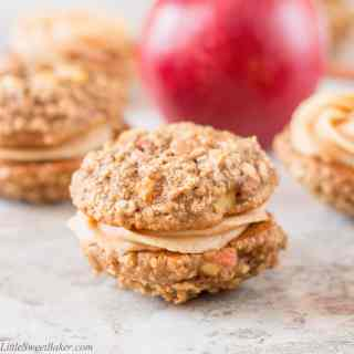 Apple Oatmeal Whoopie Pies with Peanut Butter Frosting (video)