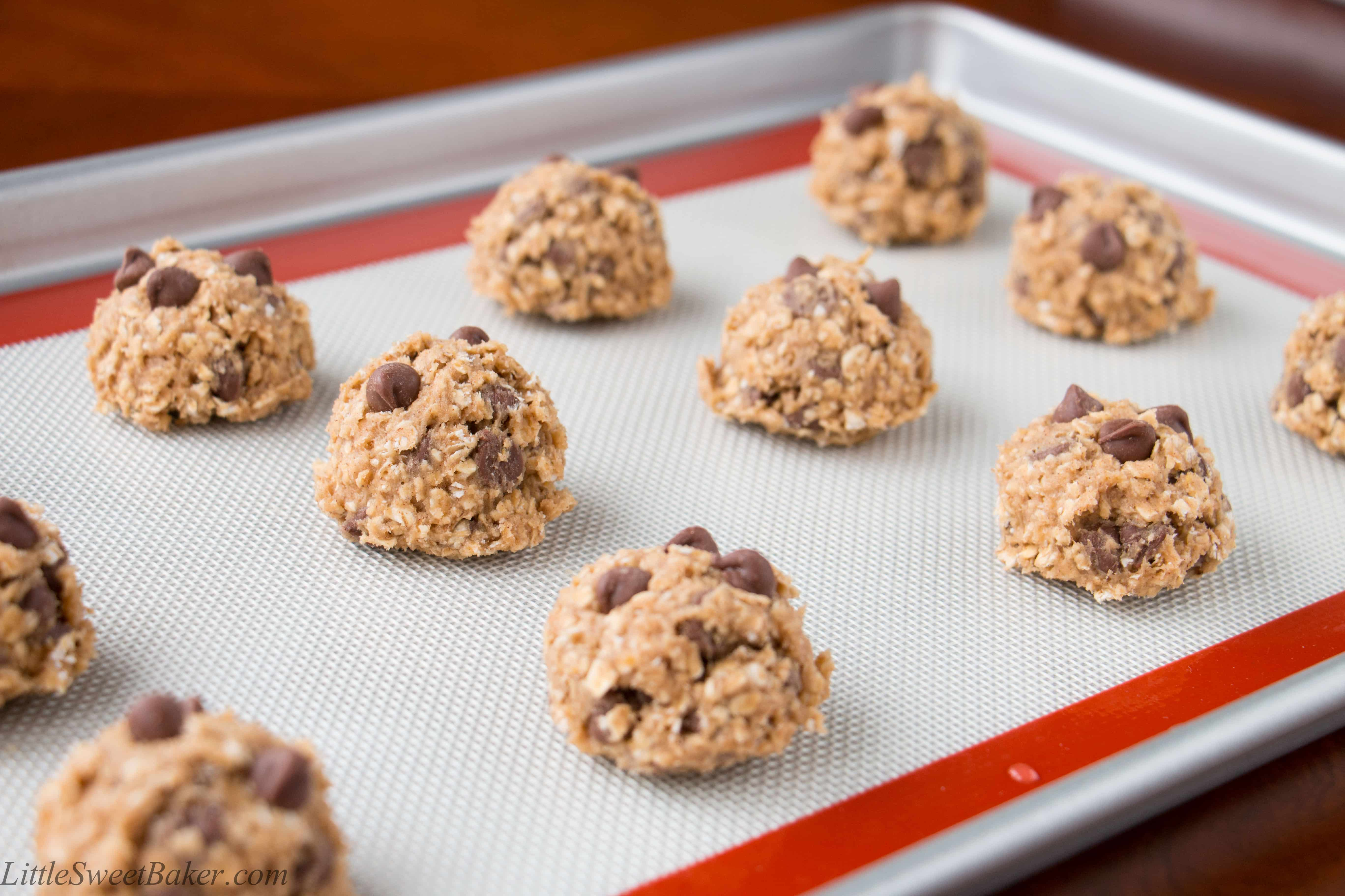 Soft Oatmeal Chocolate Chip Cookies - Little Sweet Baker
