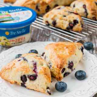 Feta Cheese & Blueberry Scones (video)