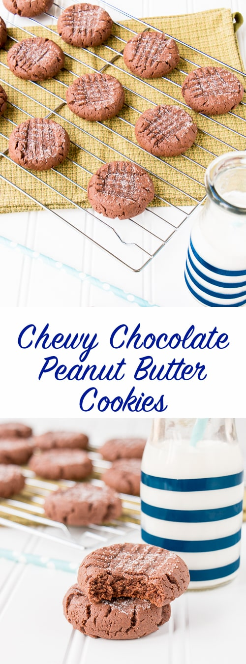 These ultra chewy cookies are rich and fudgy like a brownie with creamy peanut butter taste.