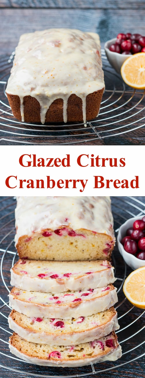 Glazed Citrus Cranberry Bread Little Sweet Baker