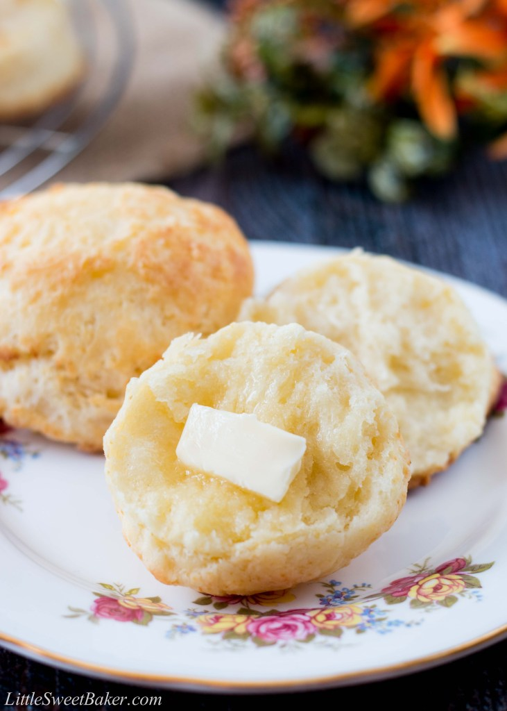 These buttermilk biscuits are soft, flaky and delightfully buttery. Find out the secret technique to why these are the easiest buttermilk biscuits you'll ever make. #easybiscuitrecipe #buttermilkbiscuits #butterbiscuits #flakybiscuitrecipe