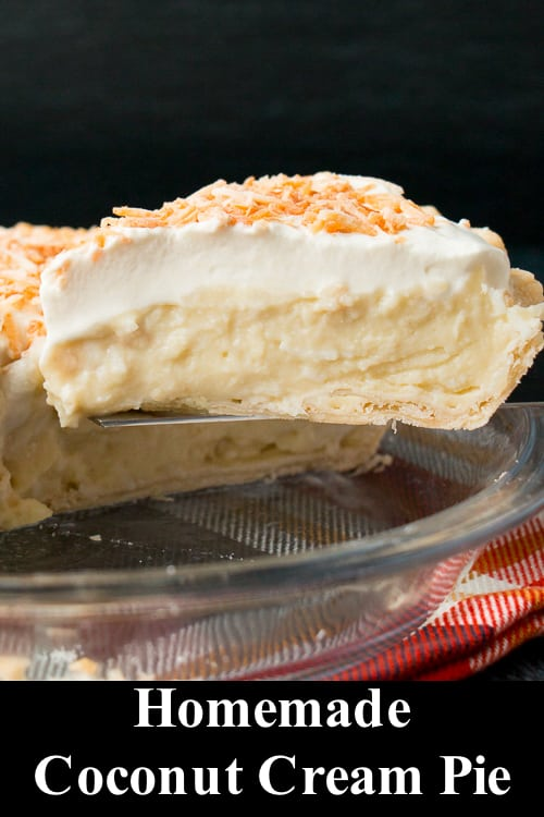 Escape to the tropics with this heavenly coconut cream pie made with coconut milk and shredded coconut for a flavorful and authentic coconut taste. #coconutcreampie #bestcoconutcreampie #Thanksgivingdessert #recipe