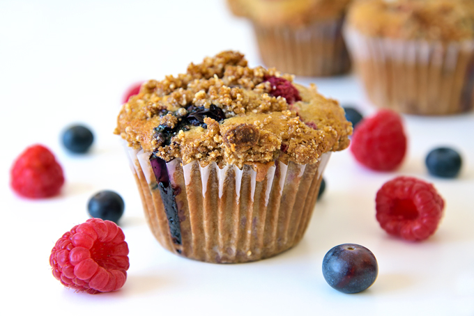 mixed berry streusel muffin main