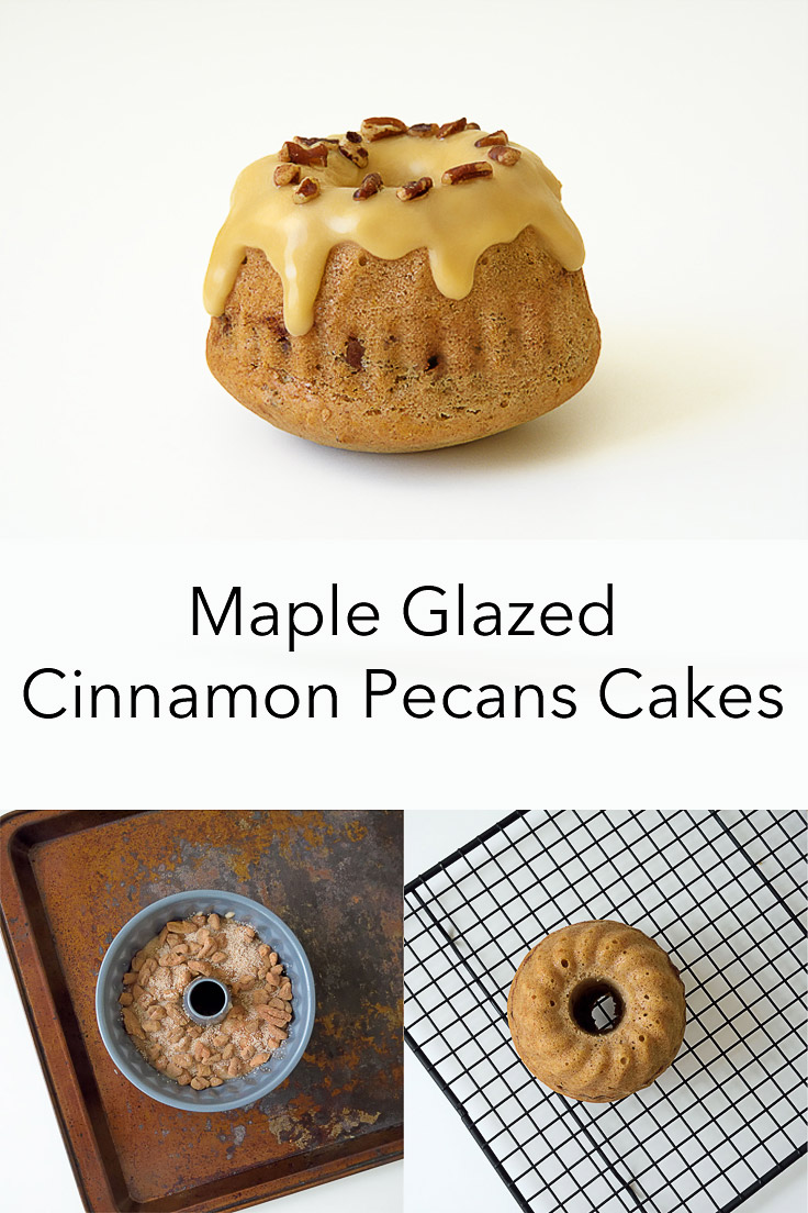 Maple Glazed Cinnamon Pecans Mini Cakes
