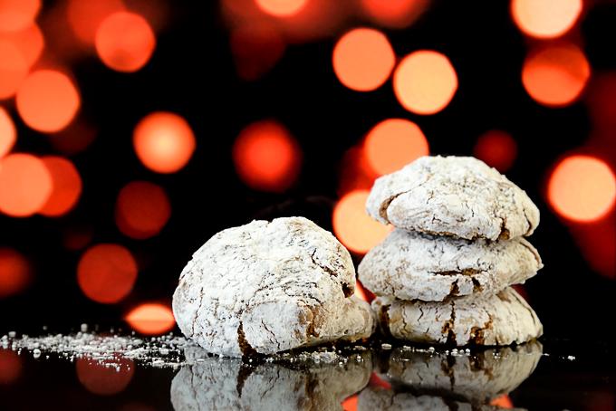 Chocolate Almond Christmas Cookies