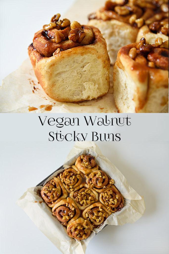 Vegan Walnut Sticky Buns
