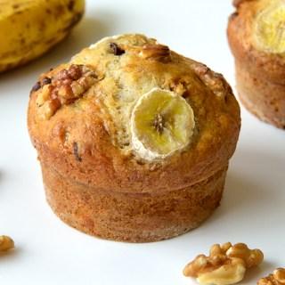 Banana Walnut Chocolate Chips Muffins