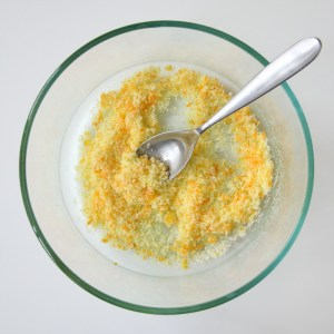 Image of sugar and orange zest